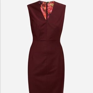 Ted Baker Pick-stitch Detail Delihad Dress Size 6